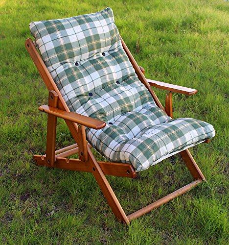 Poltrona sedia sdraio relax in legno pieghevole cuscino for Cuscini x sedia