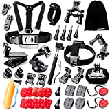 Zookki 40 in 1 Accessori Kit per GoPro Hero 5 4 3+ 3 2 1 Black Silver and SJ4000 SJ5000 SJ6000, Action Camera Accessories per Lightdow/Xiaomi Yi/WiMiUS/DBPOWER - ZOOKKI - amazon.it