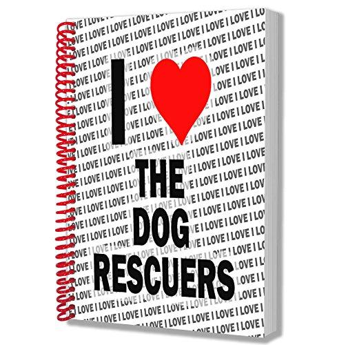 I love Rettungskräfte der Hund Notizbuch, A5-Notizblock-Geburtstag-Weihnachten-Geschenk