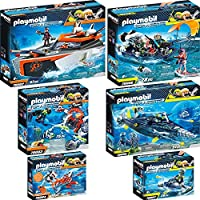 Playmobil Top Agents 6 pcs. Set 70002 70003 70004 70005 70006 70007 SPY TEAM Turbo Ship + Sub Bot + Underwater Wing + TEAM S.H.A.R.K. Drill Destroyer + Harpoon Craft + Rocket Rafter