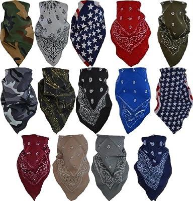 Bandana Biker Kopftuch in verschiendenen Farben - 2 - 10 Stück wählbar von normani - Outdoor Shop