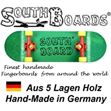 Completo Finger Skateboard gr/RT/GE South Boards® Handmade Wood tarjeta Real Madera
