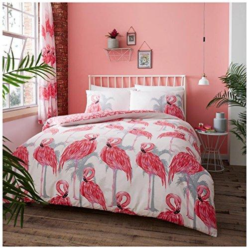 Gaveno Cavailia Luxuriöse Flamingo Set mit Bettbezug und Kissen, Polyester-, Einzelbettgröße, Pink (Sammlung Bett Tröster)