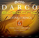 Darco Gitarrensaiten für E-Gitarre (Nickelumwicklung, super light, Stärke 0.008-0.039)