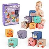 Cubi Gomma Bambini, 12PCS Blocchi Morbidi per Bambini, Cubi Morbidi Bambini, Cubi Morbidi Neonati, Cubi Impilabili, Costruzio