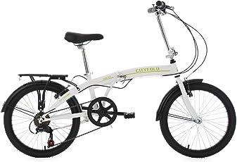 KS Cycling Erwachsene Faltrad 20'' Cityfold weiß RH 27 cm Fahrrad