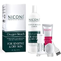 NICONI Oxygen Bleach For Sensitive And Dry Skin For Men And Women Face And Body - 200 gm