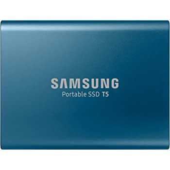 Samsung T5 250GB Portable Solid State Drive (Blue)
