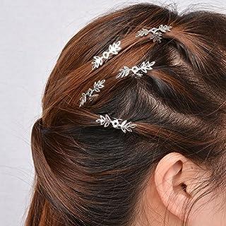 ALCYONEUS African daisies Pigtail Frau Haare Kette Perlen DIY Loops 1 Packung (Schneeflocke)