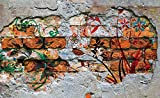Tapeto Fototapete - Wand Graffiti Street Art - Vlies 368 x 254 cm (Breite x Höhe) - Wandbild Gips Malerei Straßenkunst