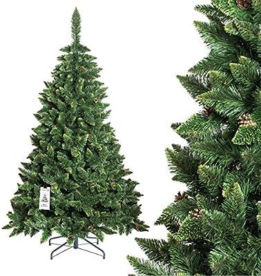fairytrees rbol de navidad artificial pino natural verde material pvc las pi - Arbol De Navidad Artificial