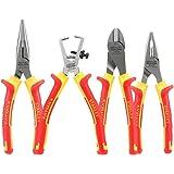 Stanley 4-84-489 Coffret de 4 Pinces Isolées 1000 V - Poignée Bi matière Certifié 1000V - Taillant Trempés Haute Fréquence - Normes en 60900, Iec/CEI 900, Vde 0680 multicolore