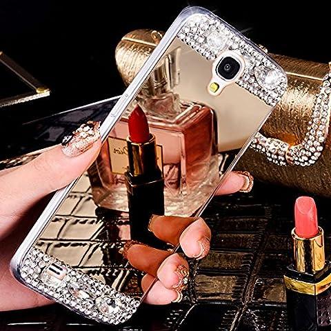 Galaxy S3 Hülle,Galaxy S3 Neo Hülle,Galaxy S3 / S3 Neo Hülle,ikasus® [Bling Glitzer Kristall Strass Diamant Spiegel Hülle] Galaxy S3 Silikon Hülle,Glänzend Glitzer Kristall Strass Diamanten Überzug Mirror Spiegel Muster Stoßdämpfend TPU Silikon Schutz Handy Hülle Case Tasche Silikon Crystal Case Schutzhülle Etui Bumper für Samsung Galaxy S3 i9300 / Galaxy S3 Neo Gt - i9301i i9301 -