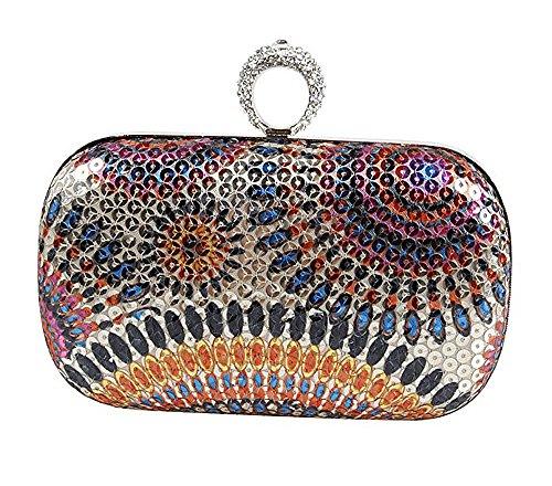 Knöchel Geldbeutel (Blumen Ring Kupplungs Handtaschen Sequins Handtaschen Rhinestone formale Abend Hochzeits Partei Handtaschen Geldbeutel)