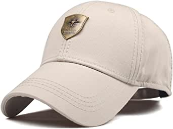 CACUSS Men's Sailing Style Cotton Structured Baseball Cap Adjustable Buckle Closure Sports Golf Hat