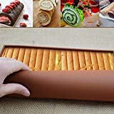 KITCHY Non Stick Silicone Jelly Roll Pan Swiss Roll Mold Food Grade Baking