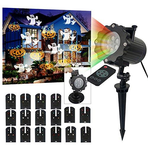 Preisvergleich Produktbild LED Projektor Lichter mit 16 Motiven,3 Stufen Geschwindigkeiten