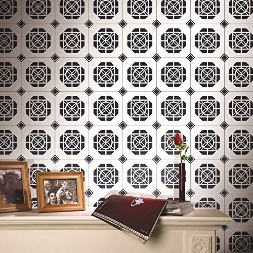 Weihnachten/Halloween/Dekoration/Aufkleber 3D/Stereo/Wand/Wohnzimmer/Schlafzimmer/TV/Rückwand/wasserdicht/selbstklebend/Wallpapers/schwarz/weiß/Tile/Sticker, D