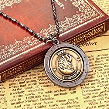 Kalendone Harry Potter Gringotts Wizarding Bank Gold Coin Knutes Galleons Pendant Necklace Keychain Mobile Chain Necklace Christmas Gift