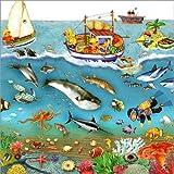 Posterlounge Leinwandbild 120 x 120 cm: Tief im Meer von Marion Krätschmer - fertiges Wandbild, Bild auf Keilrahmen, Fertigbild auf Echter Leinwand, Leinwanddruck