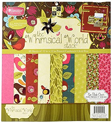Diecuts With A View PS005298 Paper Stack 12X12 48/Pkg-Whimsical