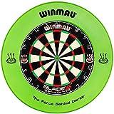 Winmau Dartboard Blade 5 Tunierdartscheibe mit Winmau Surround in verschiedenen Farben (Grün)