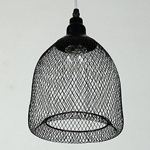 LB malla de alambre de hierro moderna y simple araña de hierro forjado personalidad creativa salón restaurante araña de estudio pasillo de almacén de araña de un cabezal Hermosa iluminación
