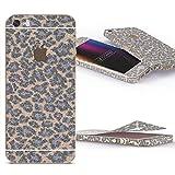Urcover Glitzer-Folie zum Aufkleben | Apple iPhone SE/5/5s | Folie in Leo Lila | Zubehör Glitzerhülle Handyskin Diamond Funkeln Schutzfolie Handy-schutz Luxus Bling Glamourös