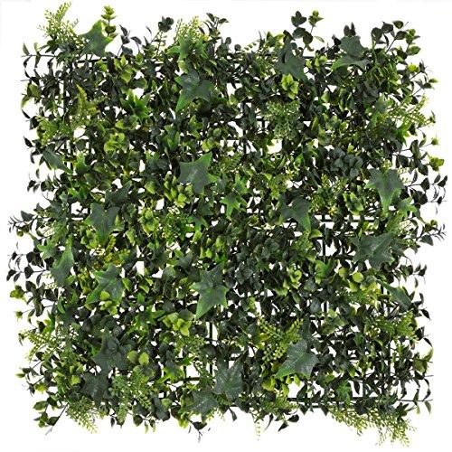 Seto artificial de hojas verde de plástico para decoración Garden - Lola Home
