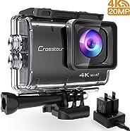 Crosstour CT9500 Nativo 4K50FPS Action Cam 20MP WiFi Action Camera(40M Impermeabile Fotocamera Subacquea, EIS e Vista Regolab