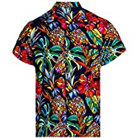Virgin Crafts Hawaiian T-shirt per Uomo Funky Beach Vacation partito ananas tagliato Viola 5XL