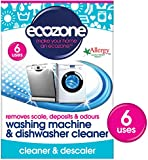 Ecozone Washing Machine and Dishwasher Cleaner x 6 (Pack of 2, Total 12 Uses)
