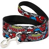 Buckle Down 'Marvel Comics The Amazing Spiderman empilés des BD/Action Poses Dog Leash, 6'