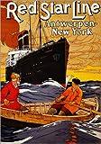 Poster 30 x 40 cm: Red Star Line. Um 1900 von Hendrick