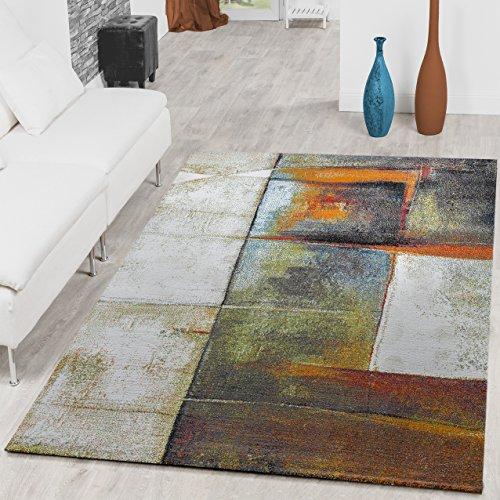 Alfombra de salón con efecto de sombras, color gris, verde, multicolor, 120 x 170 cm