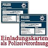 Einladungskarten zum Geburtstag als Polizeivorladung (50 Stück) Geburtstagseinladung Polizei Vorladung Einladung