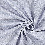 Fabulous Fabrics Feinpiqué Melange Leinen Mix – blau —