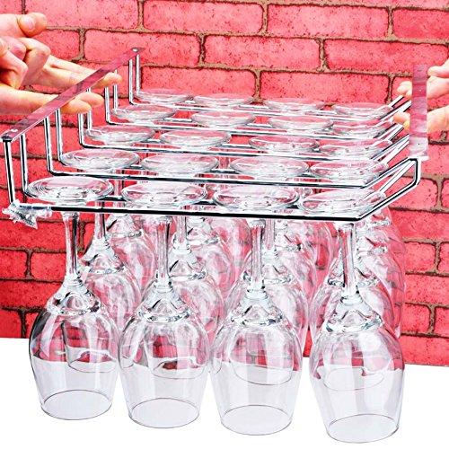 cinque-acciaio al carbonio appeso portabicchieri idee capovolto portabicchieri appeso vino rack di vetro