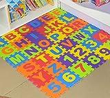 wengckj ABC Puzzlematte Candy | schadstofffrei | Spielmatte aus 36 Puzzlequadraten mit insg. Teilen | hautfreundlicher Eva-Schaumstoff von casa Pura