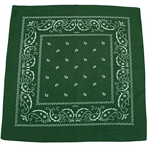 bandana, coton, 55 x 55 cm, Couleur:Oliv