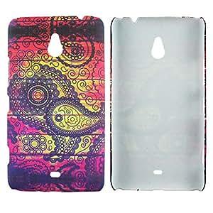 Heartly Aztec Tribal Art Printed Design Retro Color Armor Hard Bumper Back Case Cover For Nokia Lumia 1320 - Dark Leaf