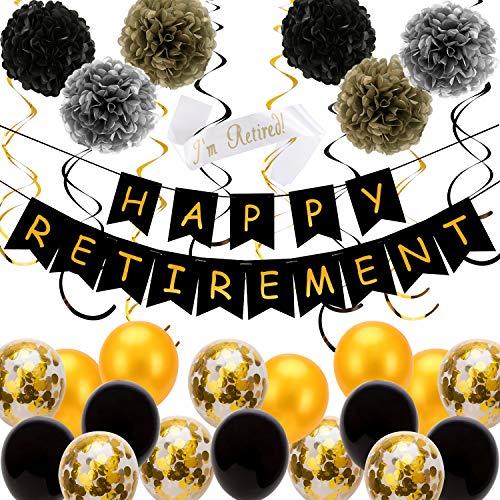 SAVITA Decoraciones Fiestas jubilación Happy Retirement