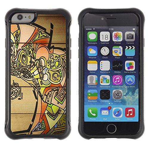 Graphic4You Art Drawing Design Shockproof Anti-Rutsch Weichen Hülle Case Tasche Schutzhülle für Apple iPhone 6 / 6S Design #19