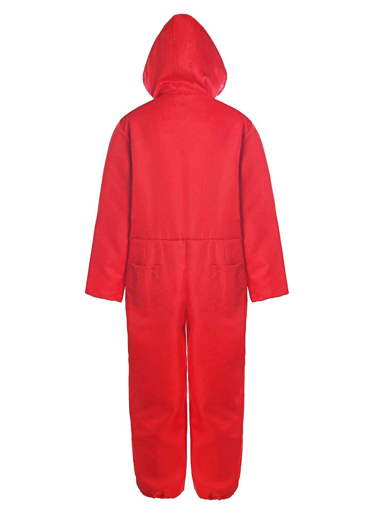 Matt Viggo Costumi La Casa di Carta Overall Donna Uomo Unisex Carnevale Costume con Maschera Dalí, Rosso, M (42) 2 spesavip