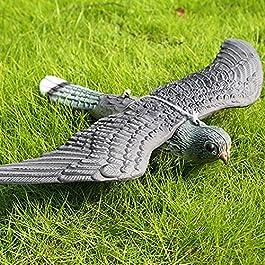 Woopower Hawk Decoy Deterrant di Uccello, Decorazione da Giardino Falco Falso Bird Hunting Decoy Spaventatore, Figura Intera Pest Control Garden Gatto e Uccello Repeller