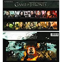 Juego de tronos presentación Pack sellos incluye los 10 sellos especiales y la hoja en miniatura