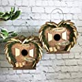 Selections GFJ840 Love Birds Nesting Boxes Bird Hotels Set of 2 from Selections