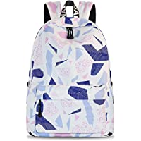 YANAIER Waterproof School Backpack for Girls Teens Cute Print Bookbag Laptop Backpack Women Travel Casual Daypack Beige