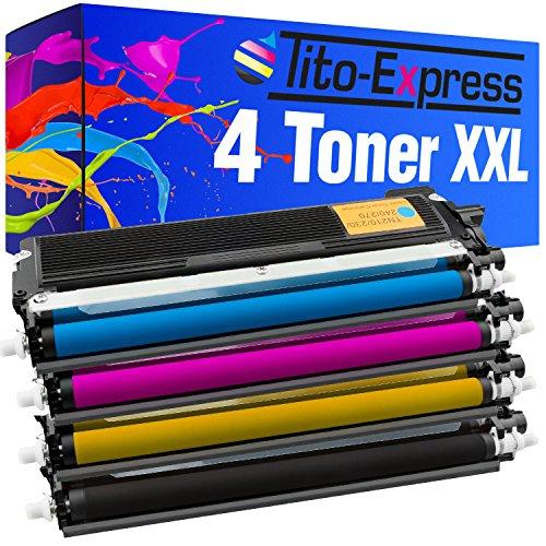 PlatinumSerie® Set 4 Toner-Kartuschen XL kompatibel für Brother TN-230 HL-3040N HL-3040CN HL-3045 CN HL-3070CN HL-3070CW HL-3075 CW MFC-9120CN MFC-9320CW DCP-9010CN MFC-9125 CN MFC-9325 CW - Mfc9320cw Brother Drucker