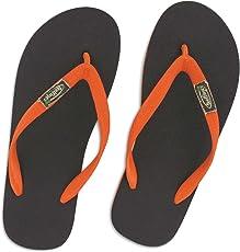 Feelfine'z: Amsterdam, marrone – arancione, infradito originale Feelfine'z in caucciù naturale - sono disponibili nelle taglie 39/40 al 49/50